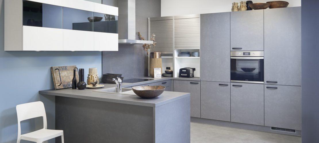 eco Koje 03 Florenz - Weiß / Modena - Stahl grau